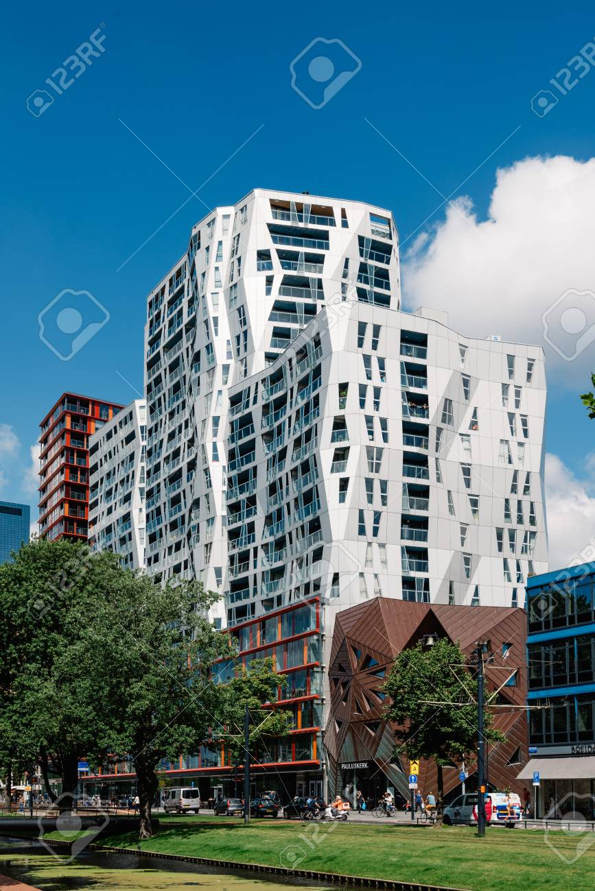 Rottedam The Netherlands August 6 2016 Modern Architecture