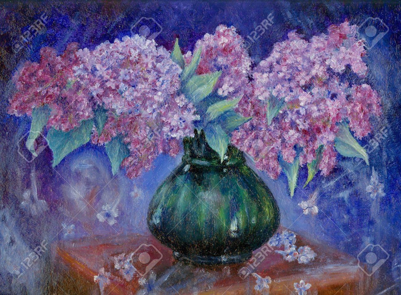 """Résultat de recherche d'images pour """"bouquet lilas peinture"""""""