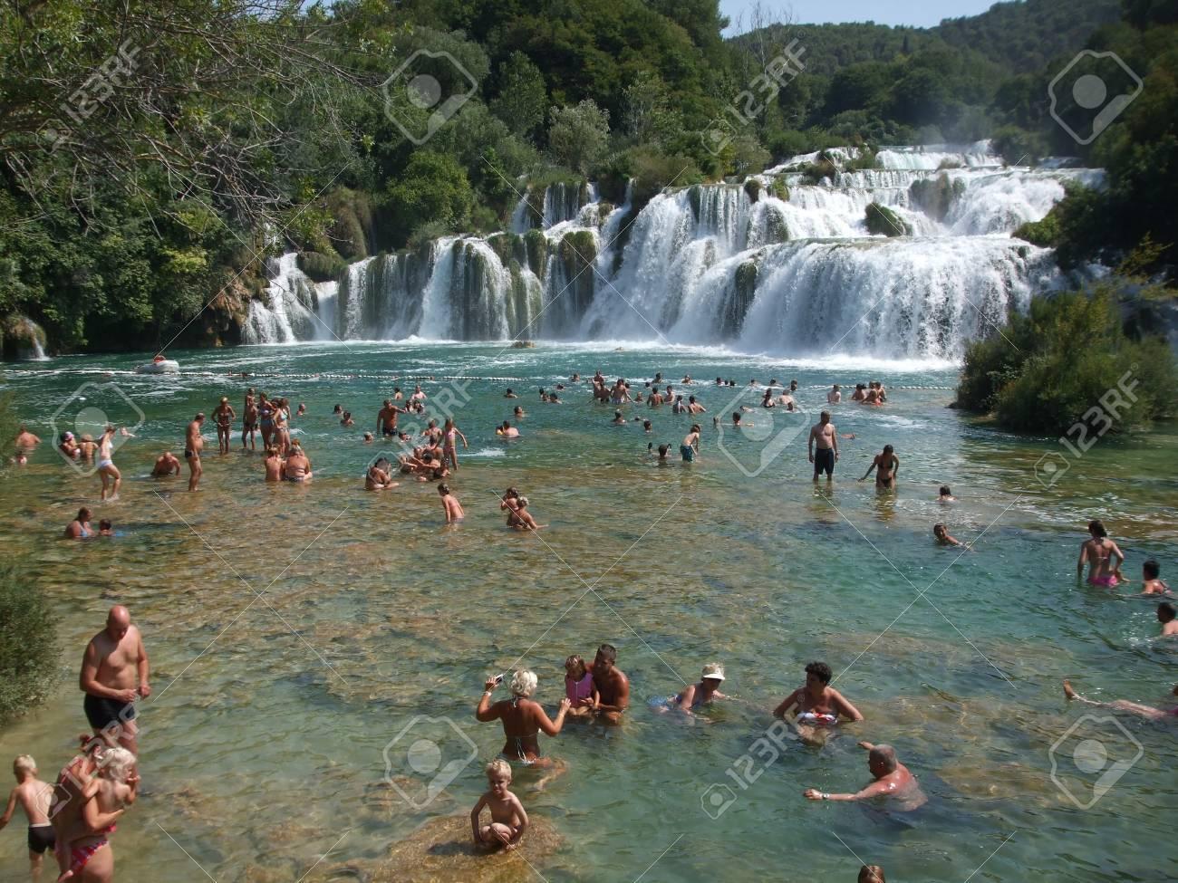 Skradinski Buk, KRKA Waterfall, Croatia, July 16, 2009 Stock Photo - 9105602