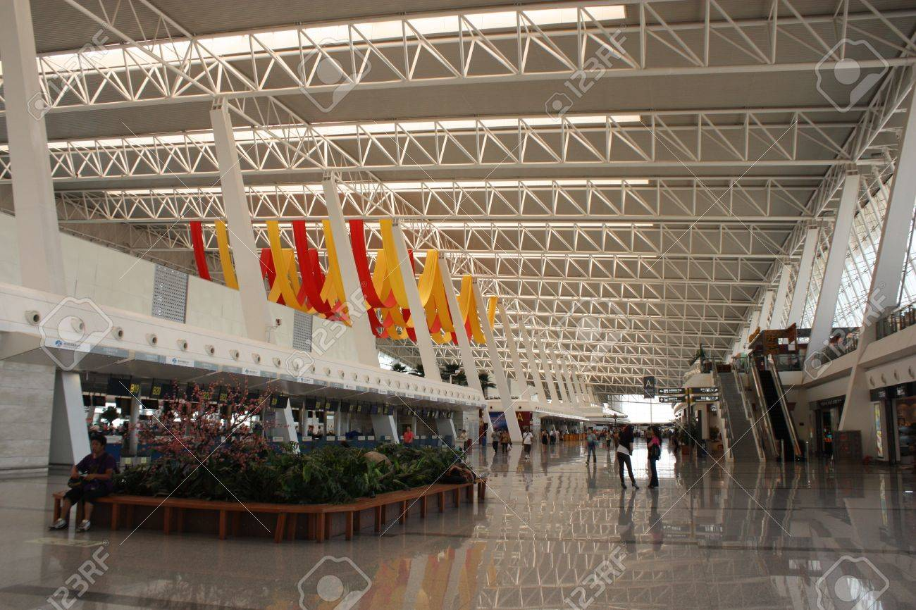 Departure zone and waiting space in airport of Wuhan, China - August 01st, 2010 Stock Photo - 9322781
