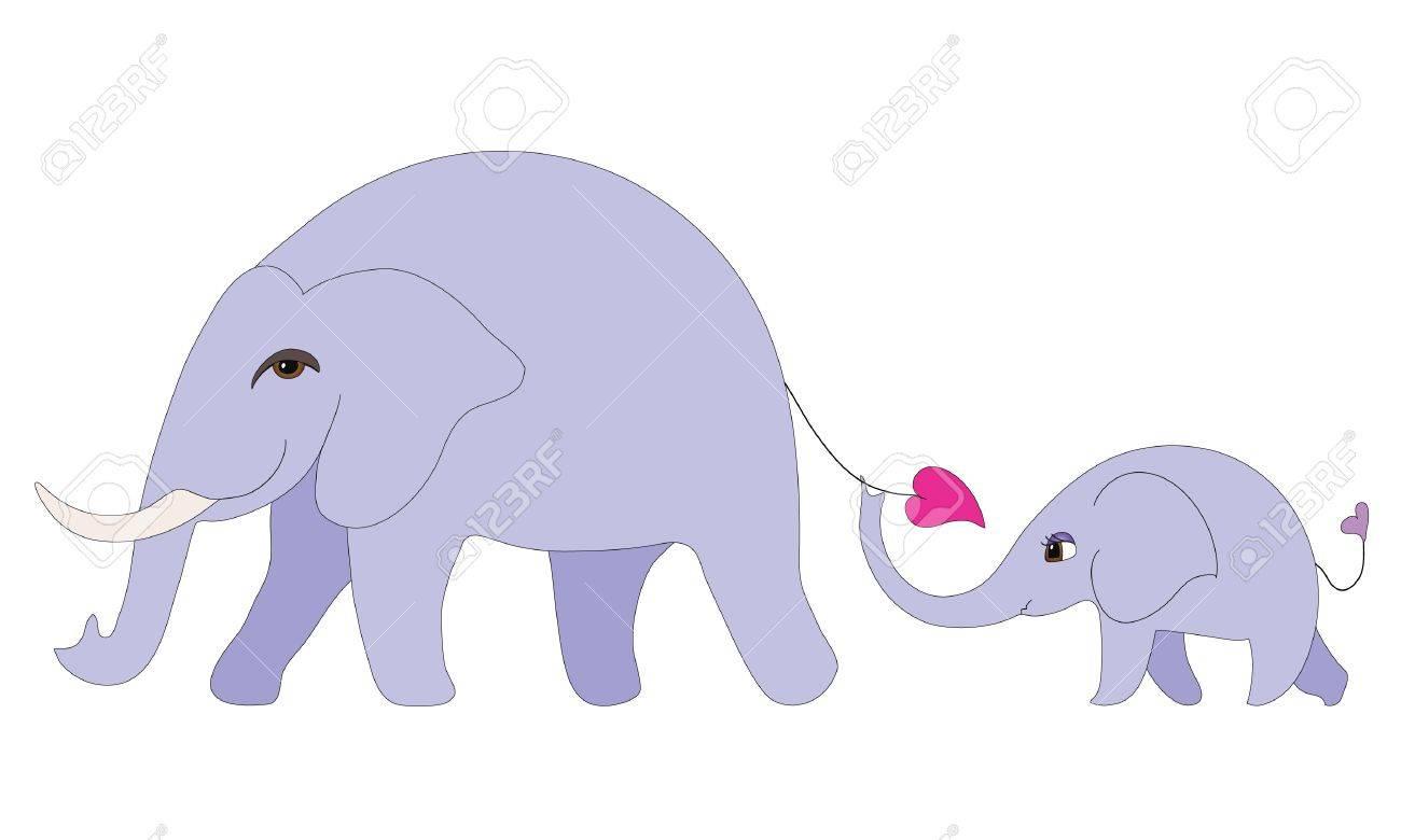 Elephant family Stock Vector - 9711511
