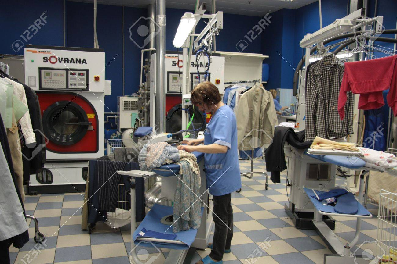 Dry cleaning service, Moscow, Russia, 21.06.2011 Stock Photo - 9754549