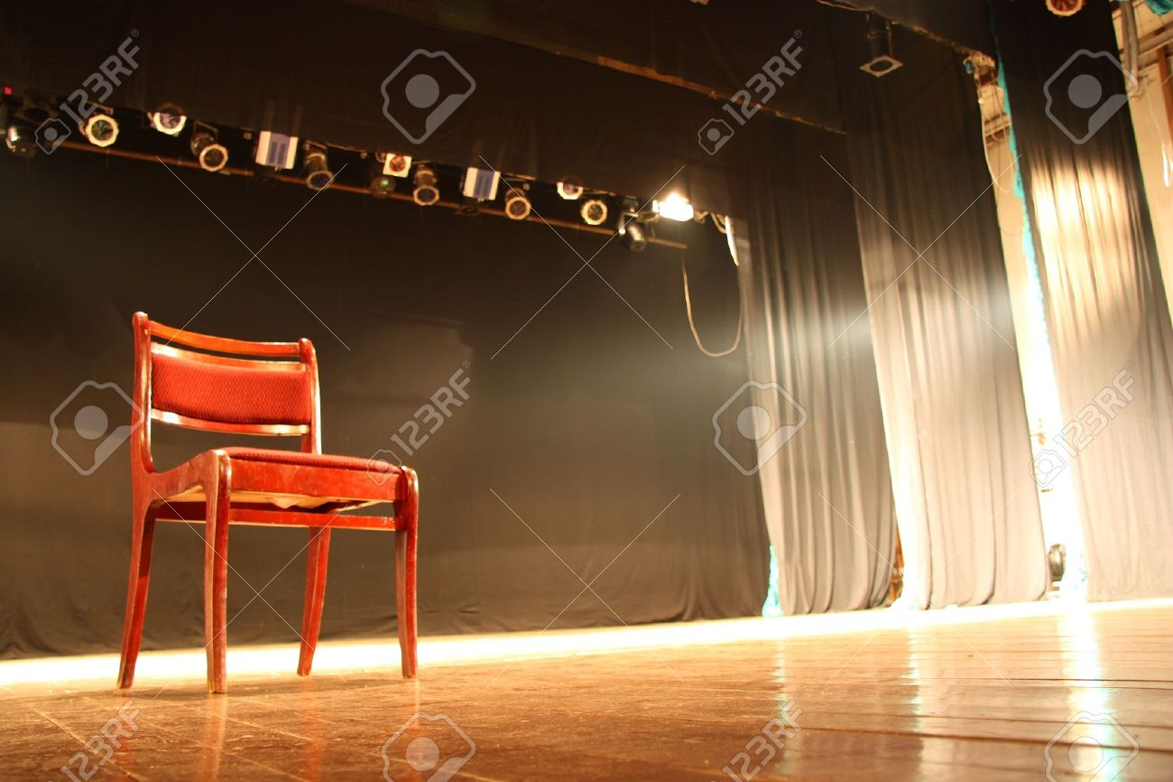 Chair on empty theatre stage Stock Photo - 11738504
