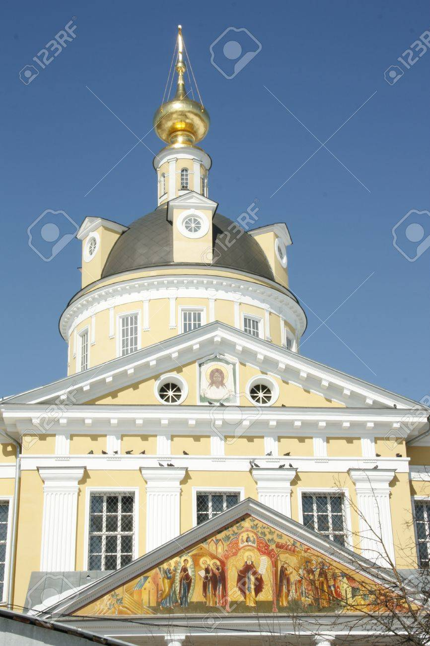 Ancient russian cathedral with beautiful painting Stock Photo - 13292758