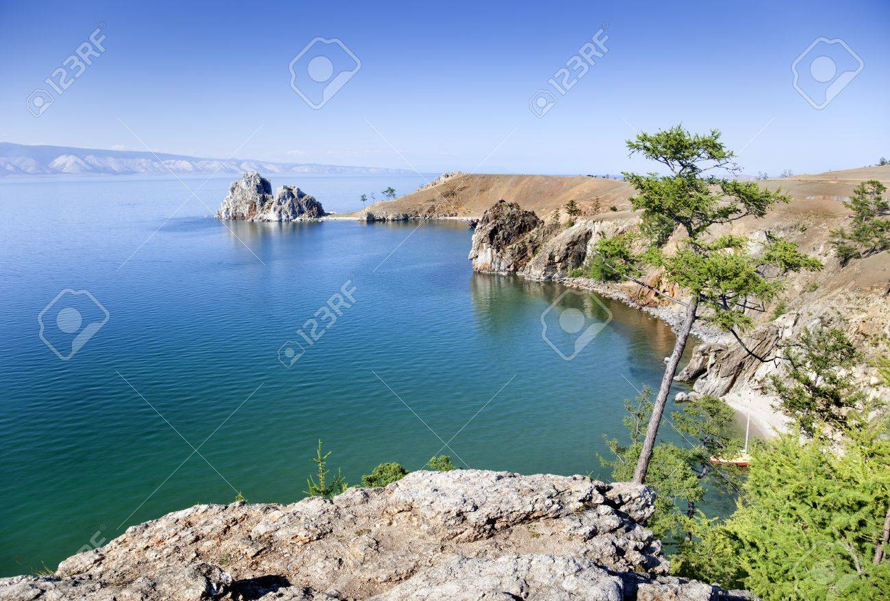 cape burhan on Olkhon Island Stock Photo - 16482494