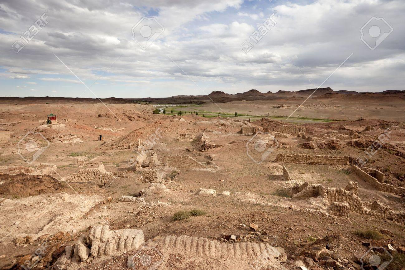 ruins of the Ongiin Khiid Monastery Stock Photo - 16482495