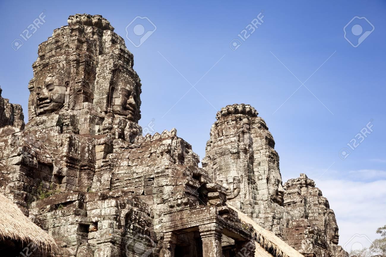 Bayon Temple  Building stone faces Stock Photo - 18424806