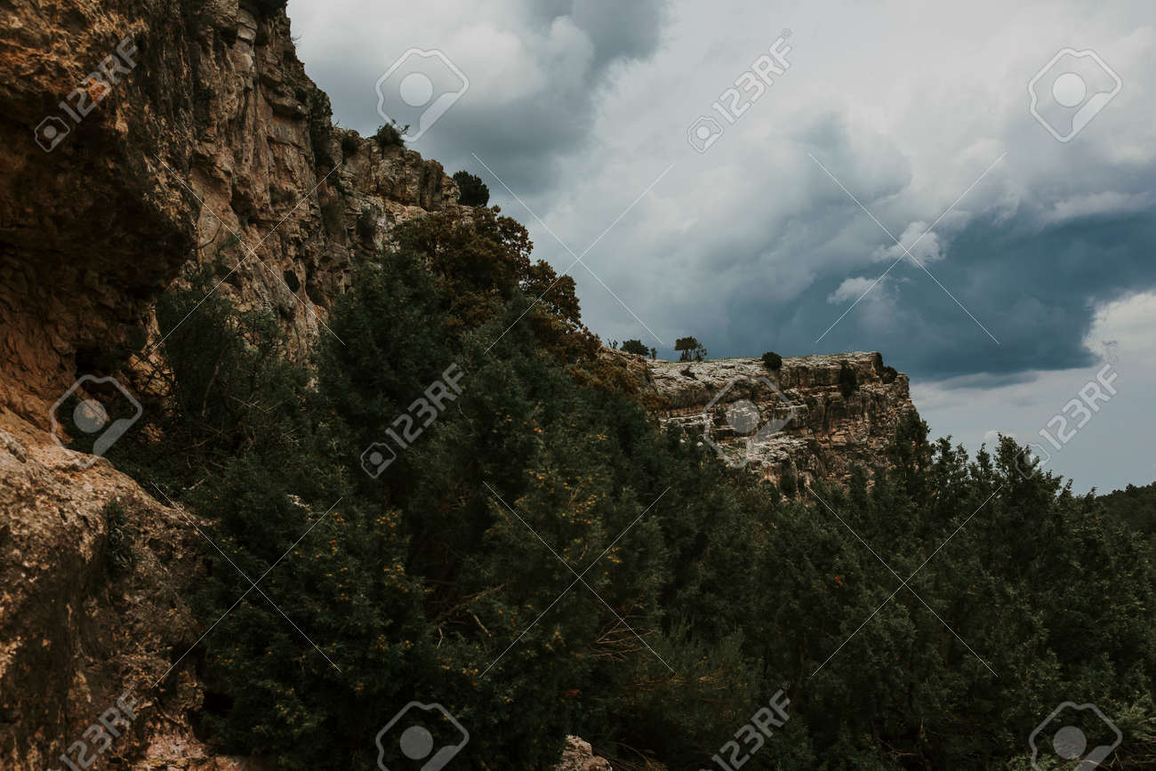 La Caixa of Valderrobres from Beceite. Teruel province - 166977601