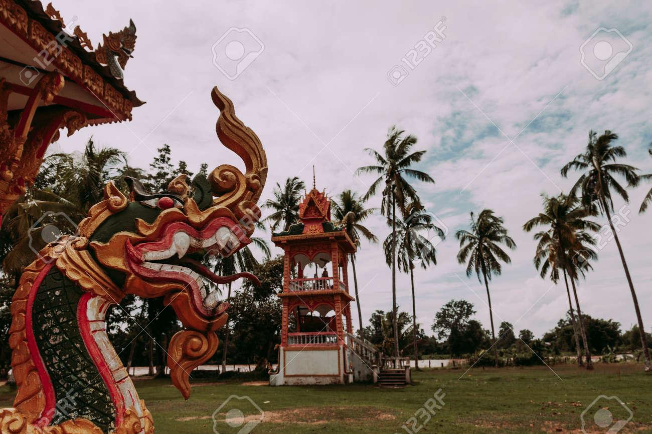 Buddhist Temple in Don Khong. Si Phan Don Island - 166631945