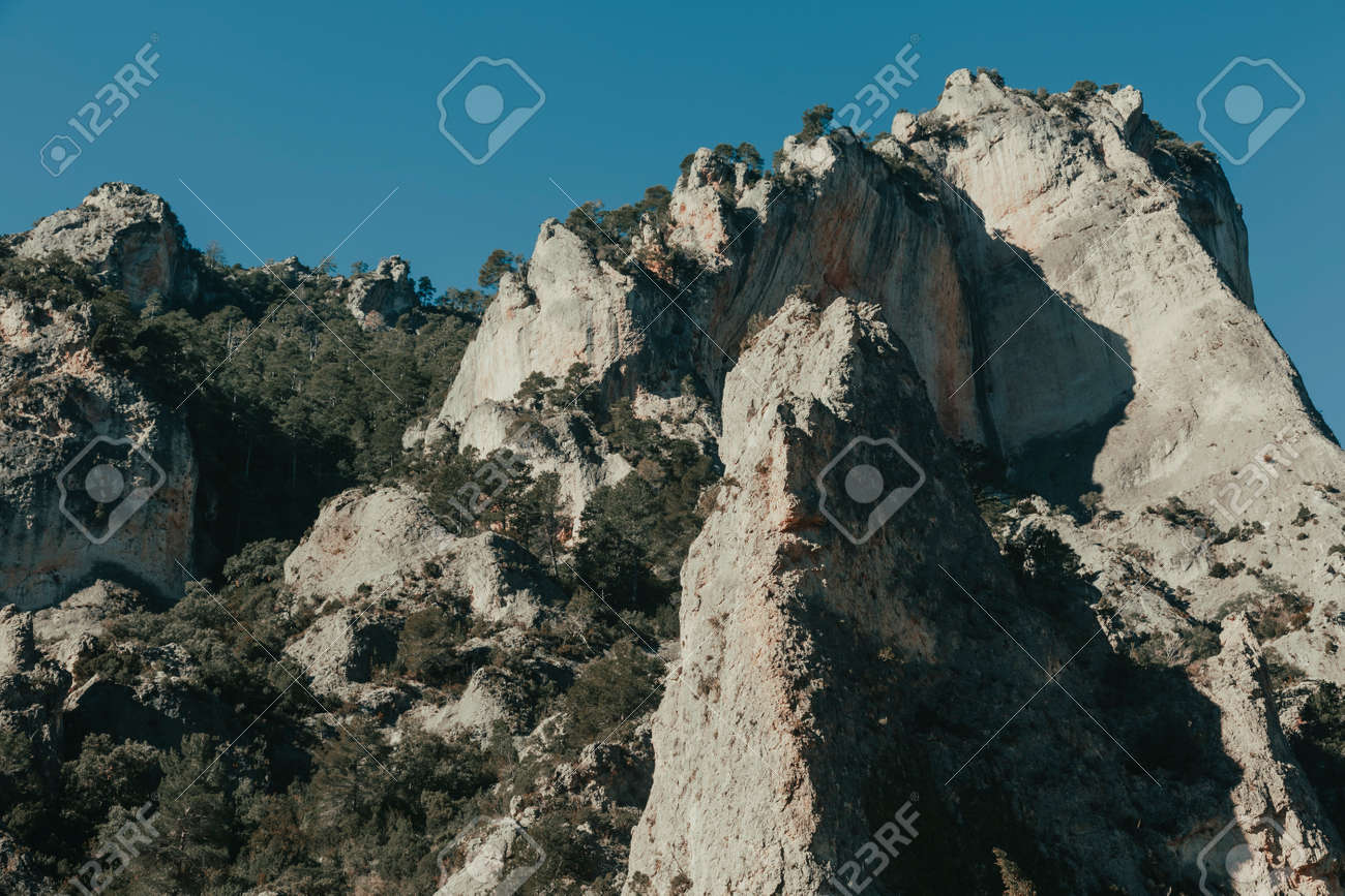 The Gubies in Parrisal Canyon. The Ports Mountains. Teruel province - 166631961