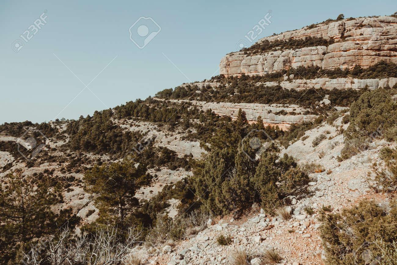 Path to Galera Peak. Teruel province. Spain - 165315495