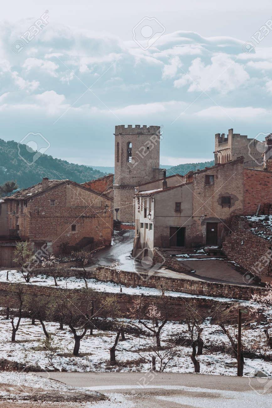 Valderrobres village in winter. Spain - 167863773