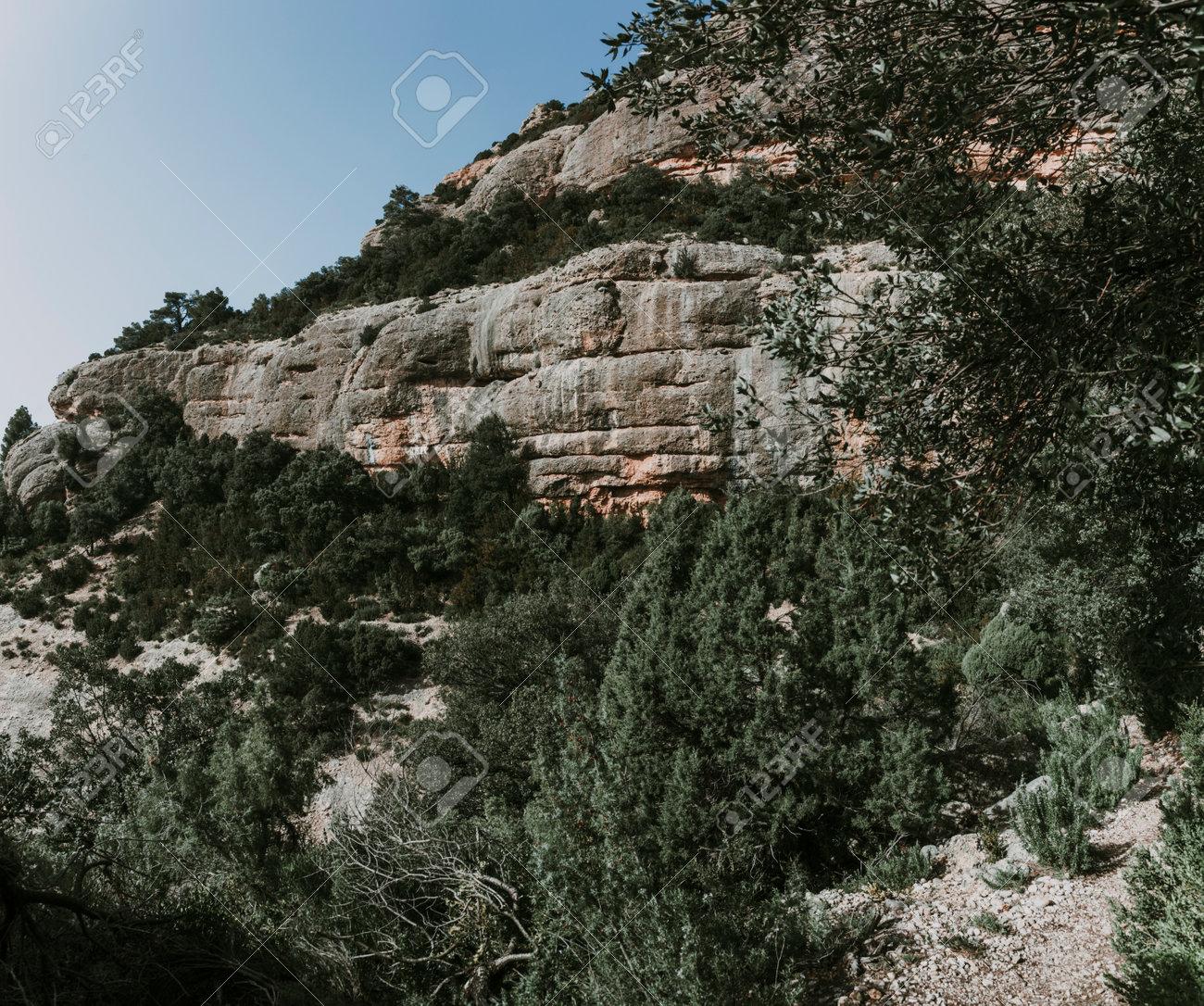 Path to Galera Peak. Teruel province. Spain - 166728544