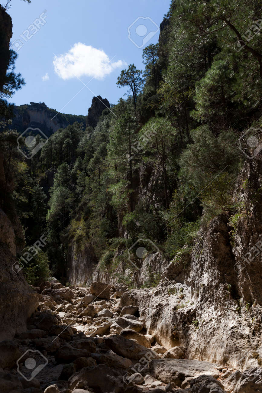 The Gubies in Parrisal Canyon. The Ports Mountains. Teruel province - 166687483