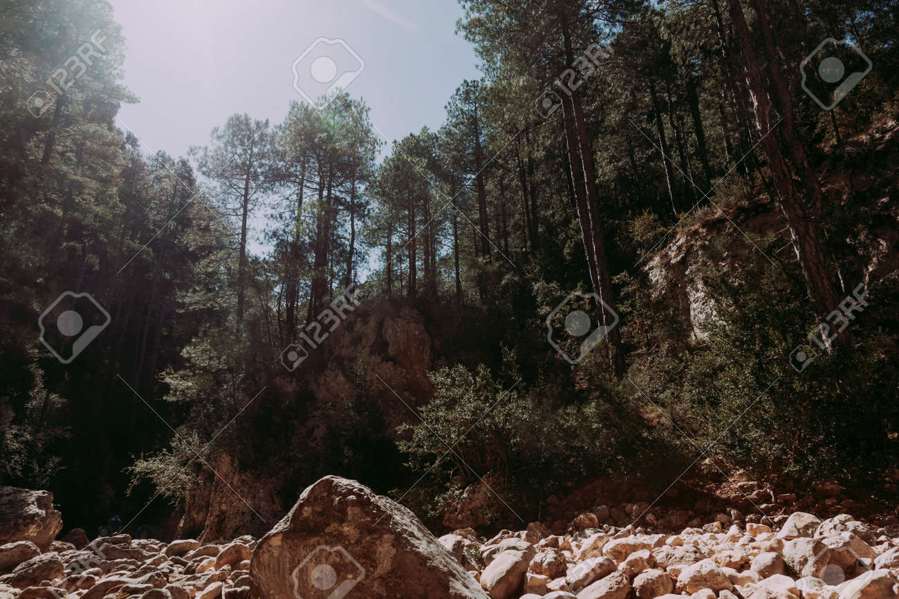 The Gubies in Parrisal Canyon. The Ports Mountains. Teruel province - 166728578