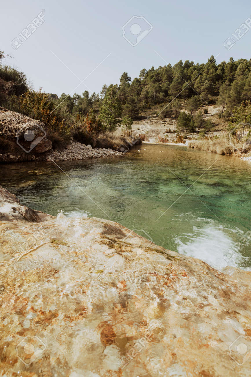 Ulldemó river gorge in Spain. Teruel province - 166728620