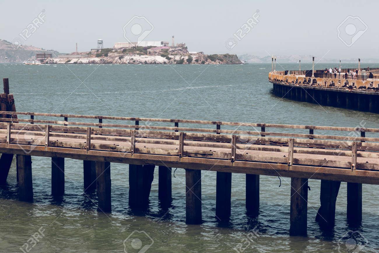 Pier in front of Alcatraz jail. San Francisco - 169405757