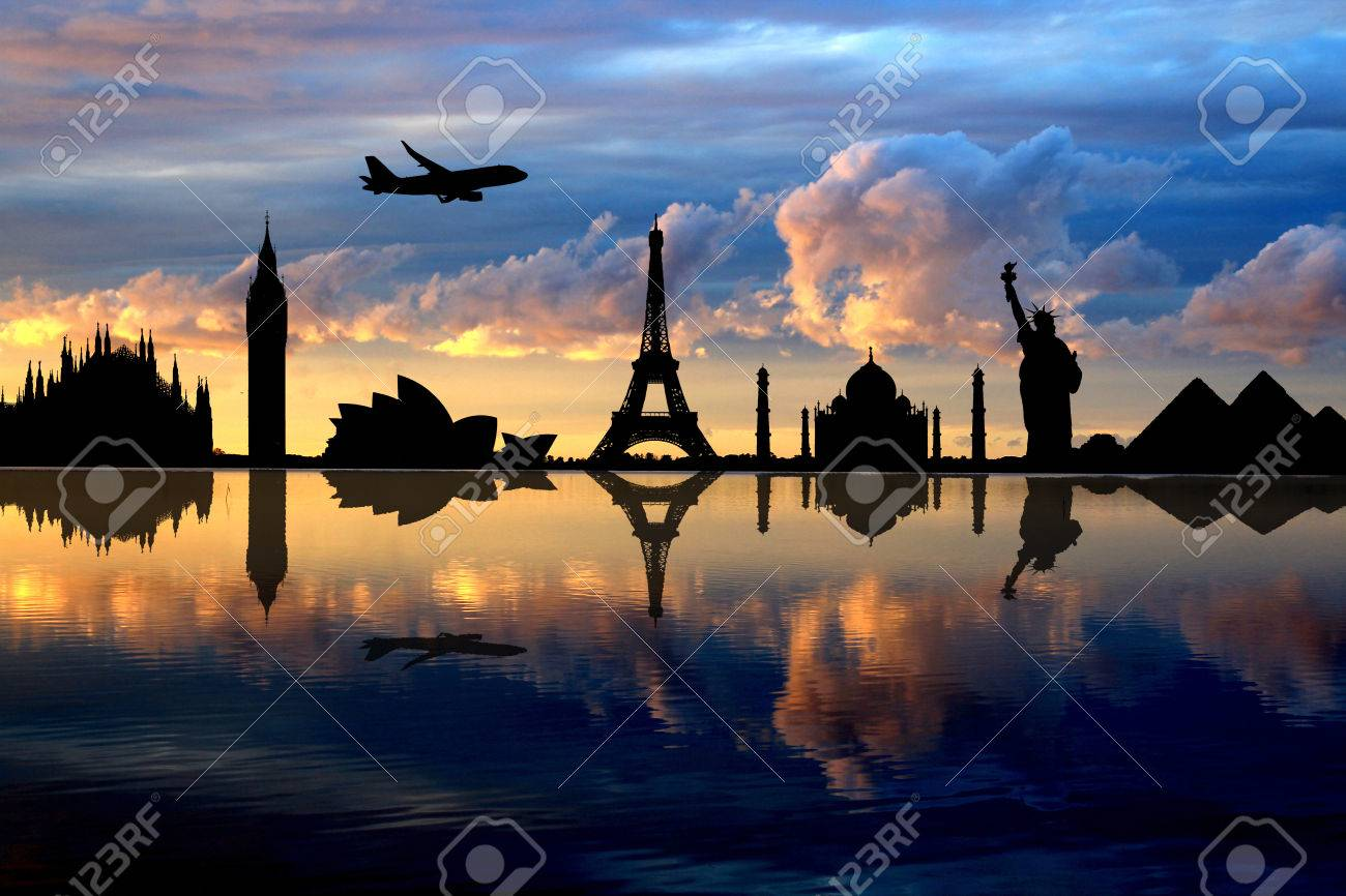 monuments that are reflected in the water - 48107653