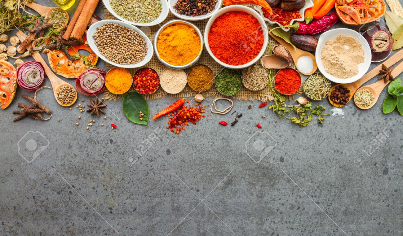 Spices and herbs.Food and cuisine ingredients for decorate design project. Stock Photo - 41439126