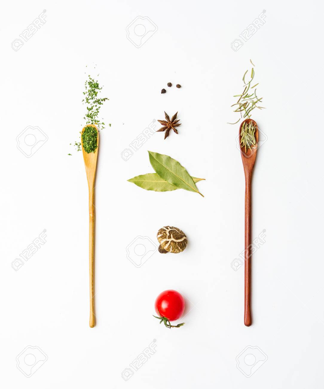 Food and spices herb for cooking background and design. Stock Photo - 42071317