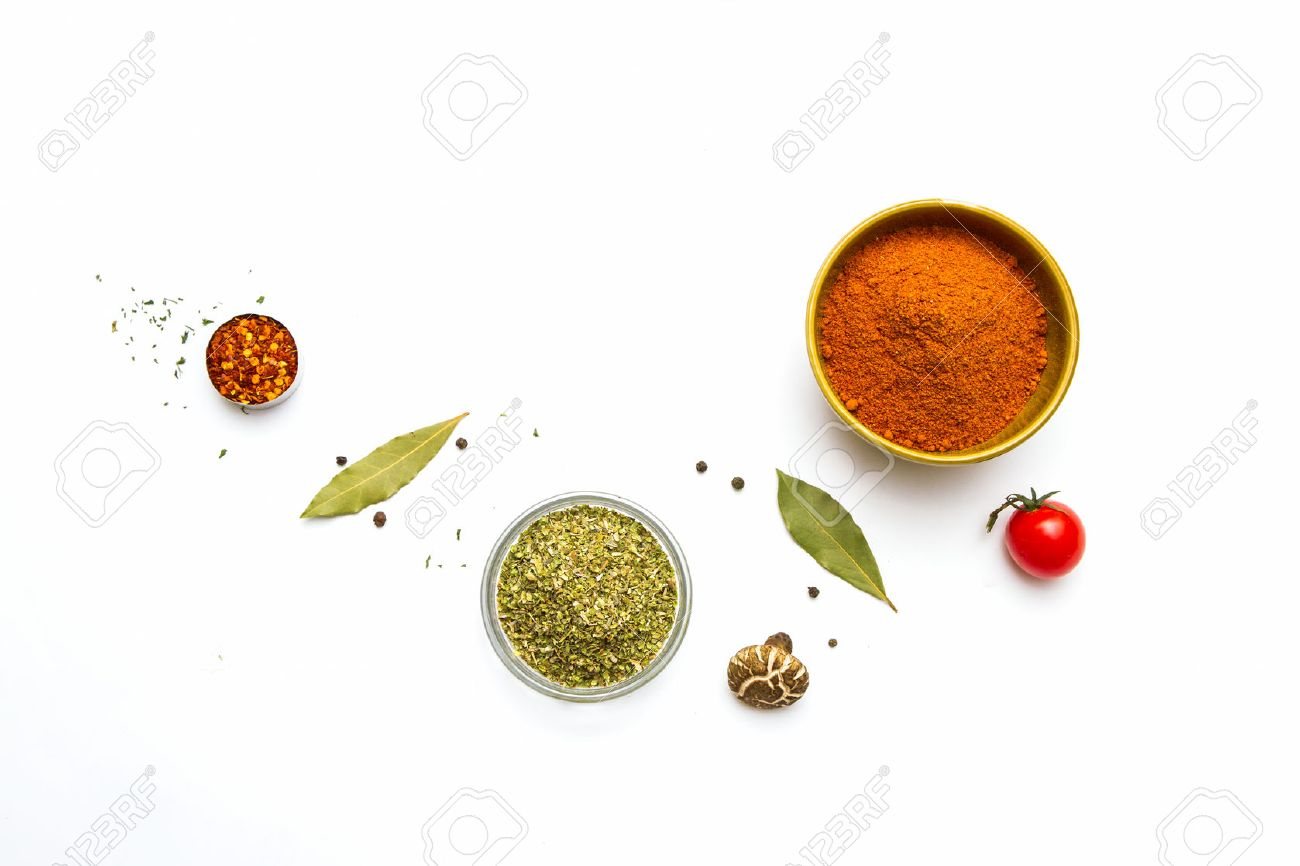Food and spices herb for cooking background and design. Stock Photo - 42071348