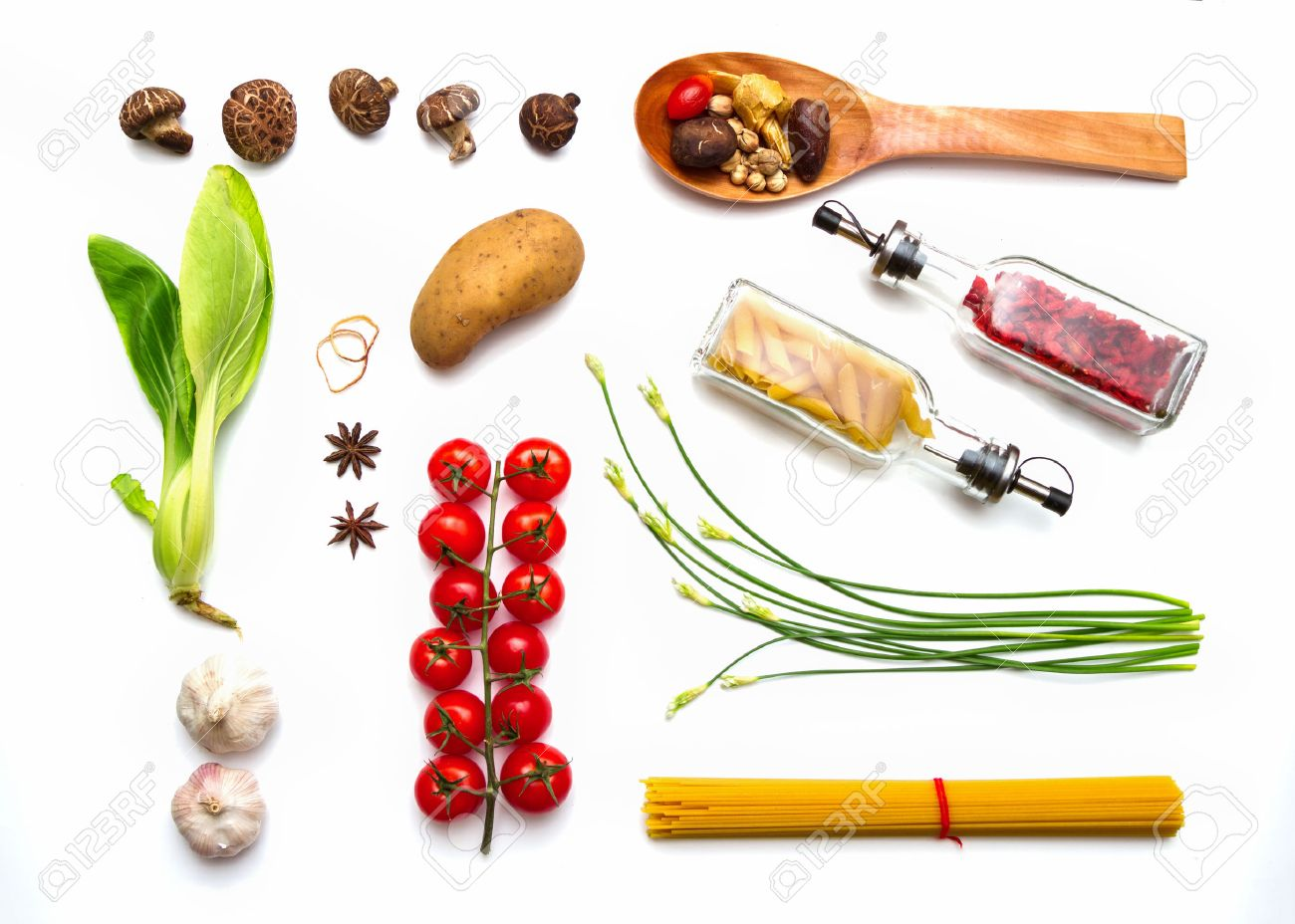 Food and spices herb for cooking background and design. Stock Photo - 42071225