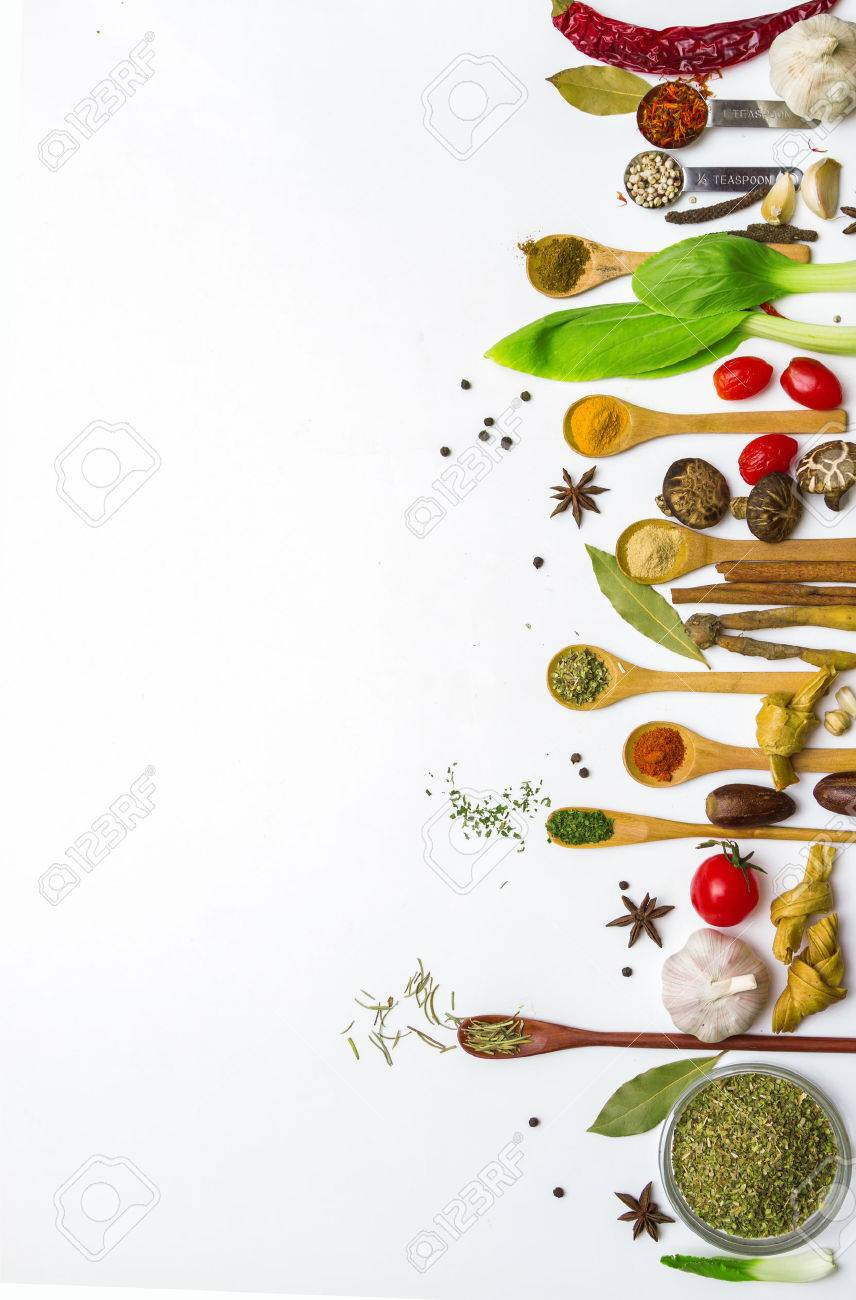 Food and spices herb for cooking background and design. Stock Photo - 42070952