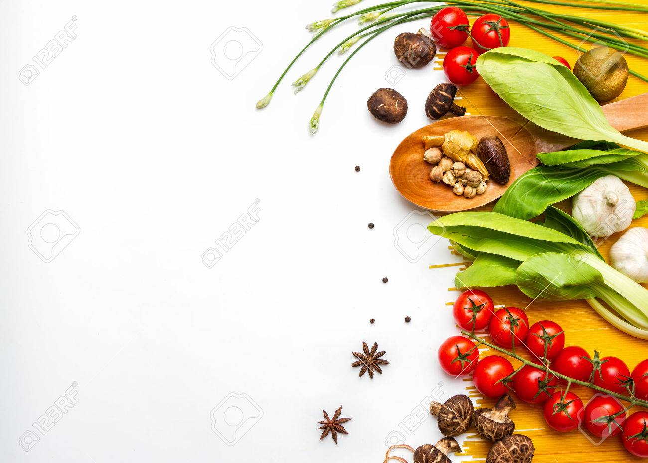 Food and spices herb for cooking background and design. Stock Photo - 42070987