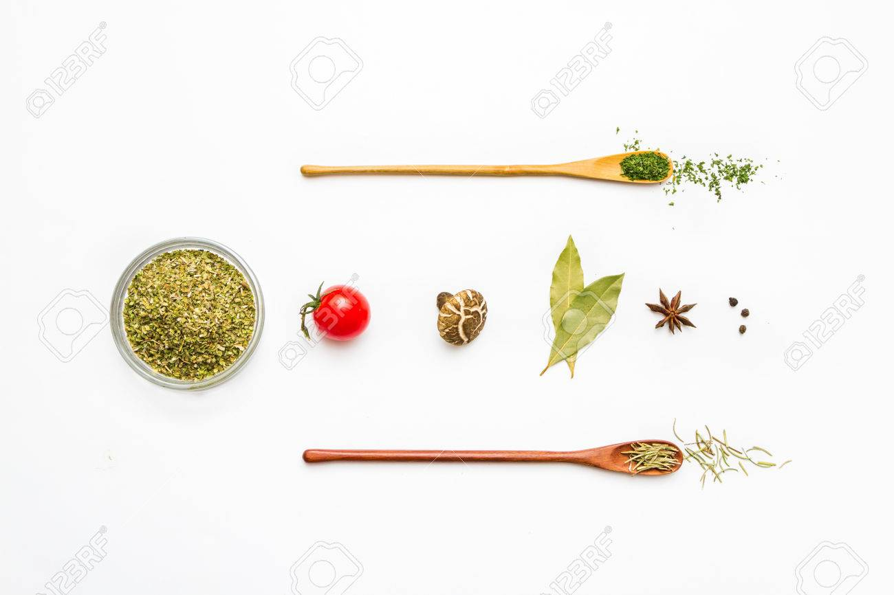 Food and spices herb for cooking background and design. Stock Photo - 42070995