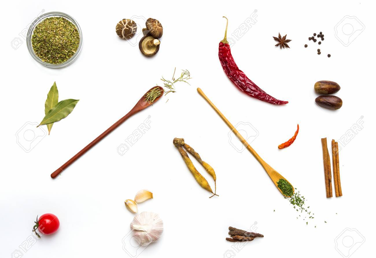 Food and spices herb for cooking background and design. Stock Photo - 42070816