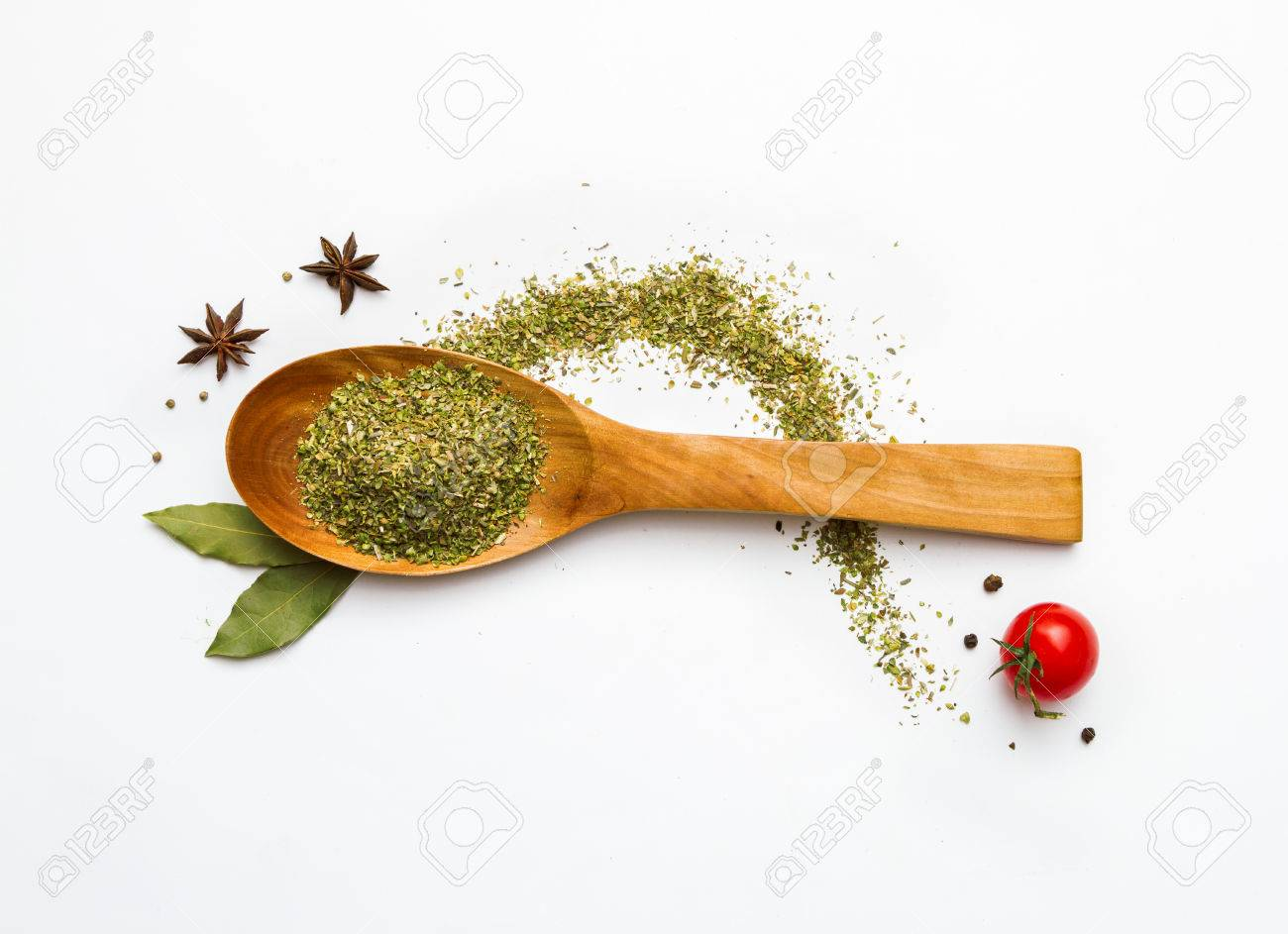 Food and spices herb for cooking background and design. Stock Photo - 42070577