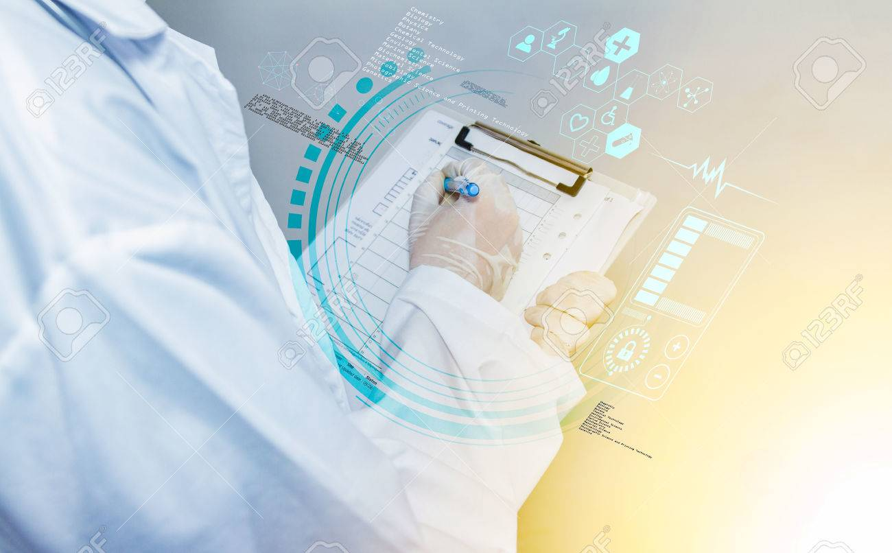 scientist checklist for analysis and concept. Stock Photo - 55240761
