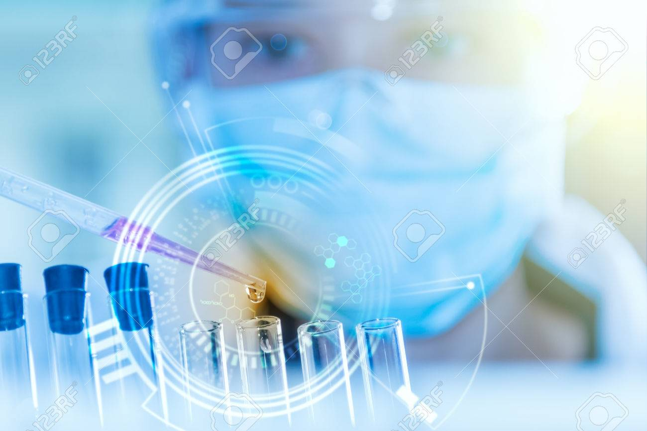 scientist working for analysis and science concept. Stock Photo - 57687905