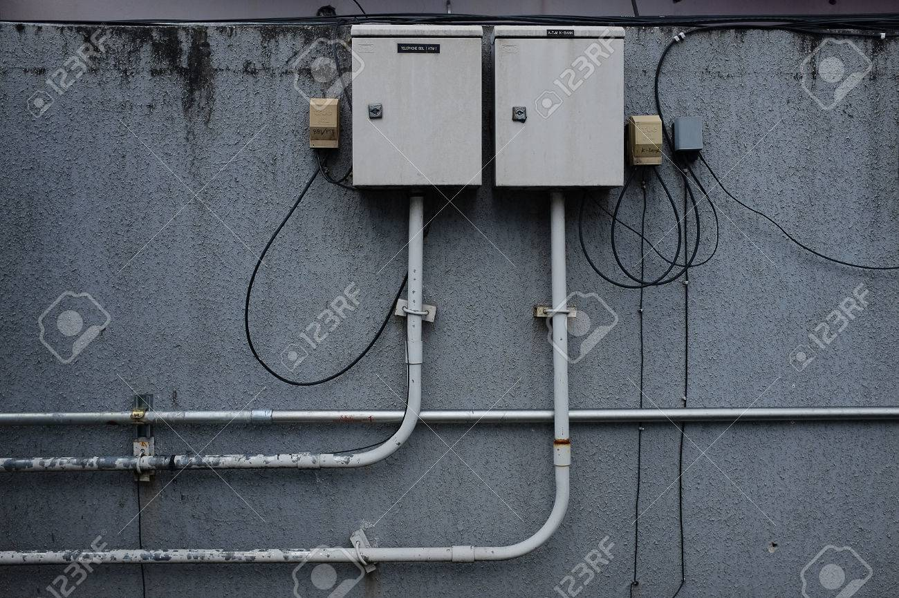 Pipe Line And Fuse Box Stock Photo, Picture And Royalty Free Image. Image  82103351.123RF.com