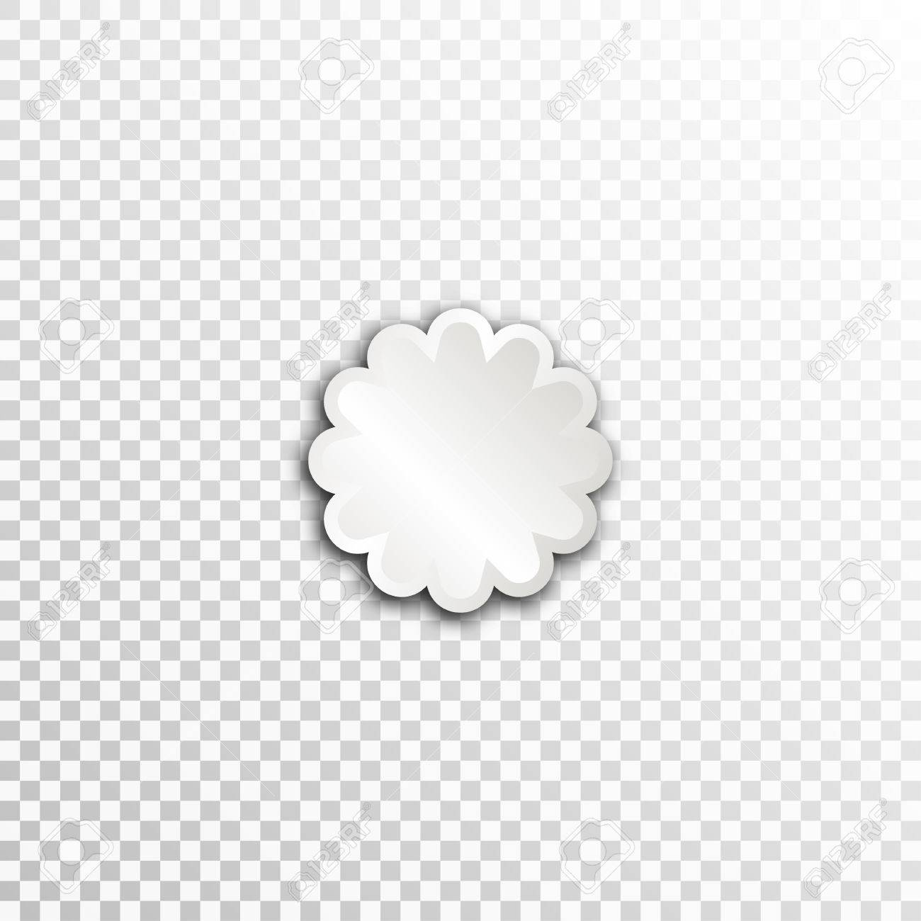 Empty White Paper Plate Base For Text Simple Flower Form Card