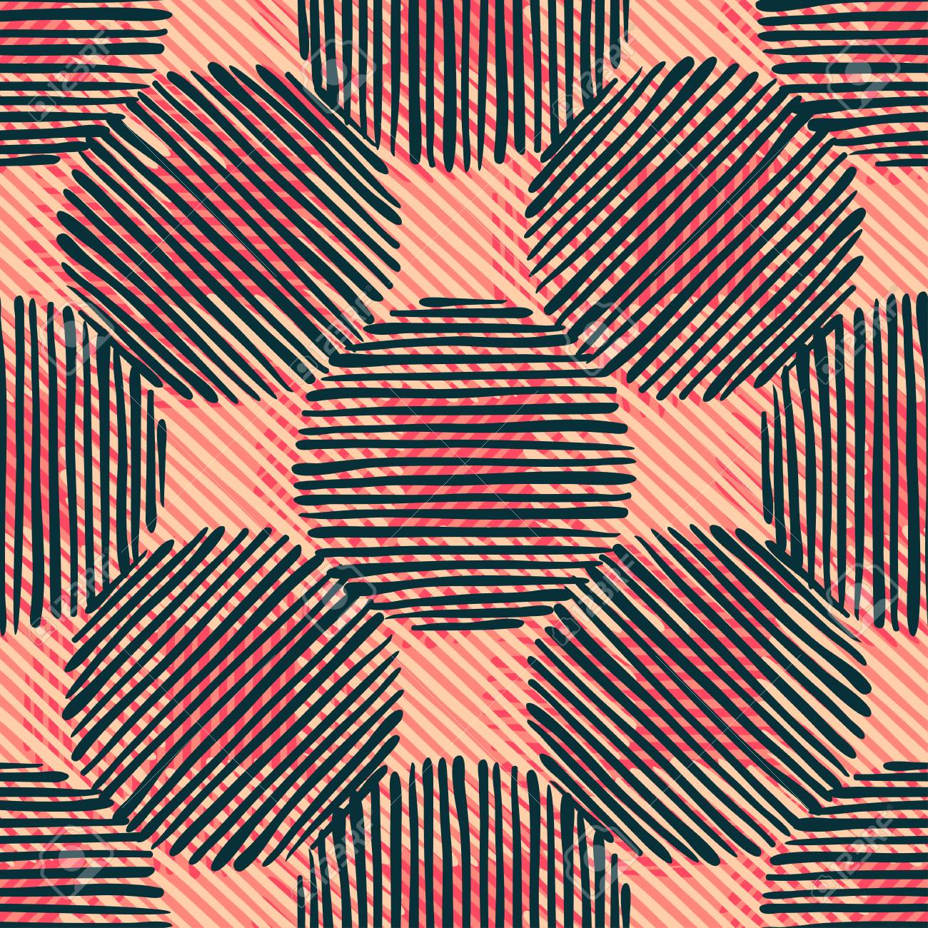 Abstract Ikat And Boho Style Handcraft Fabric Pattern For Girls