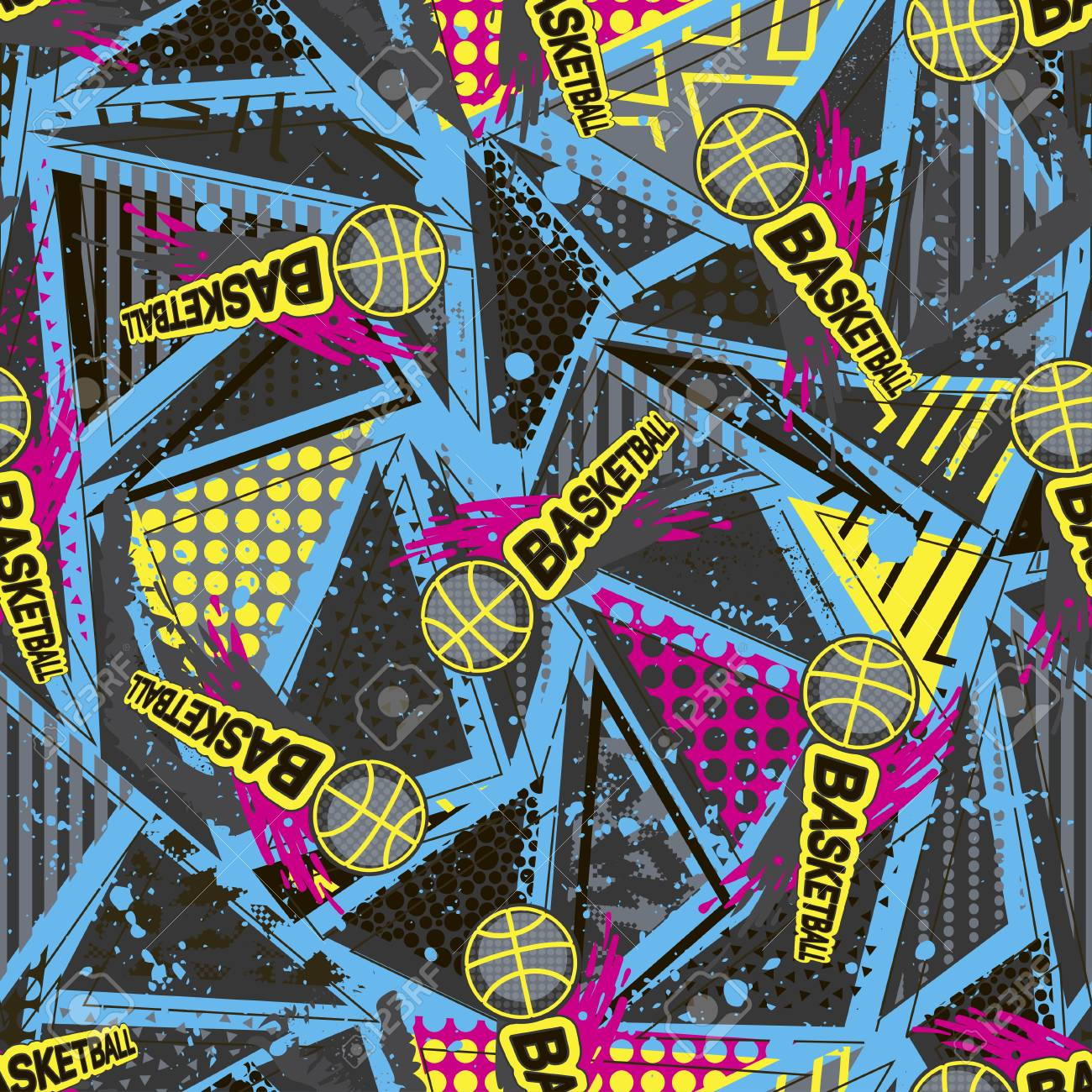 Abstract Seamless Vector Pattern For Girls Boys Clothes