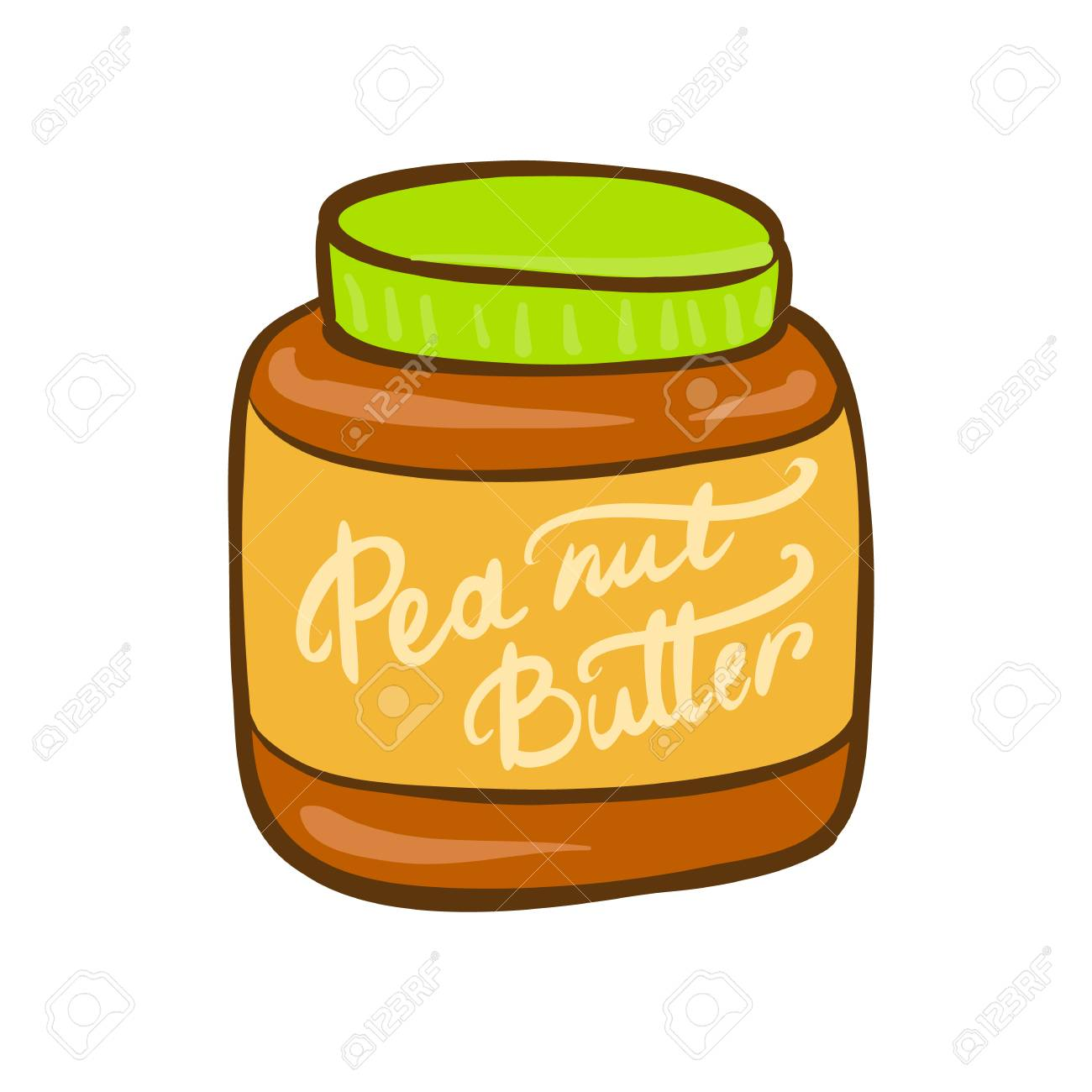 Clipart: peanut butter jar clip art | Peanut Butter Jar — Stock Vector ©  HitToon #61071013