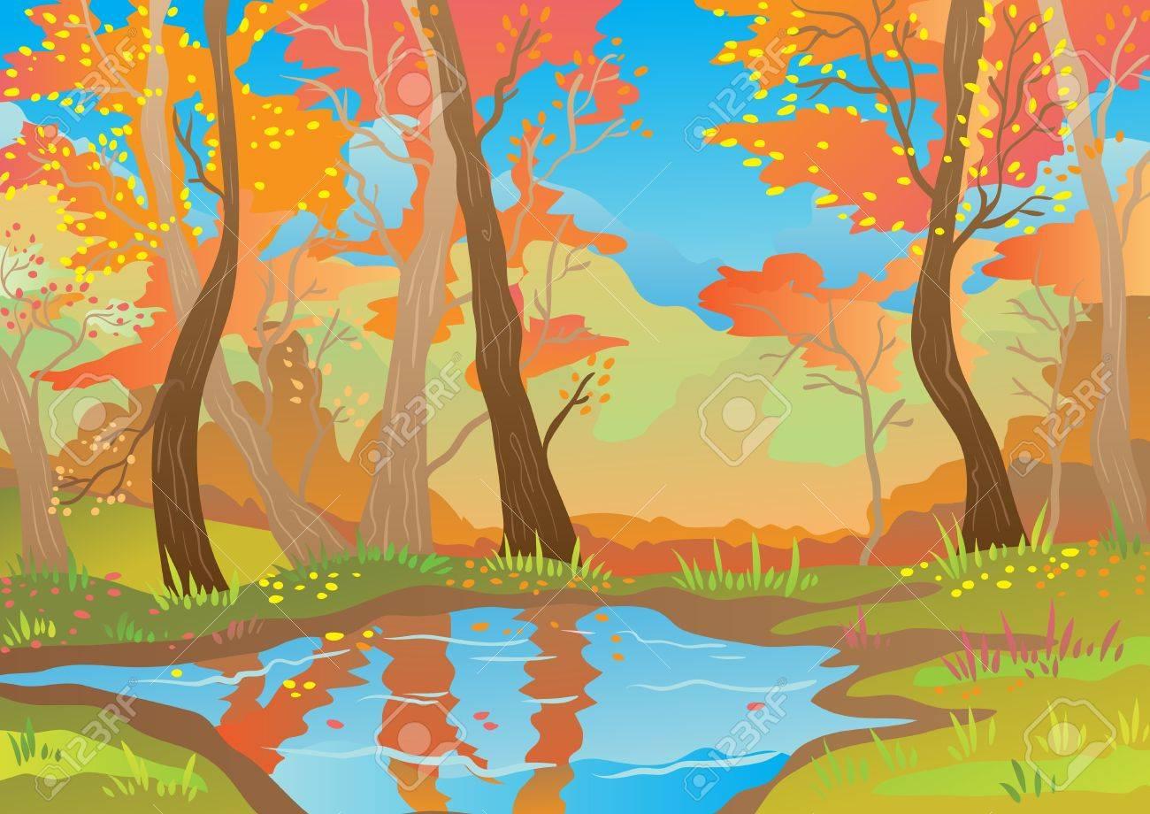 Orange landscape Stock Vector - 16004493