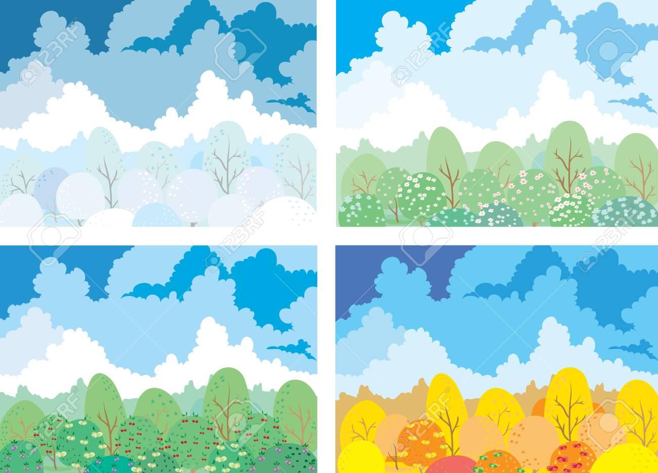 Garden seasons Stock Vector - 16004505