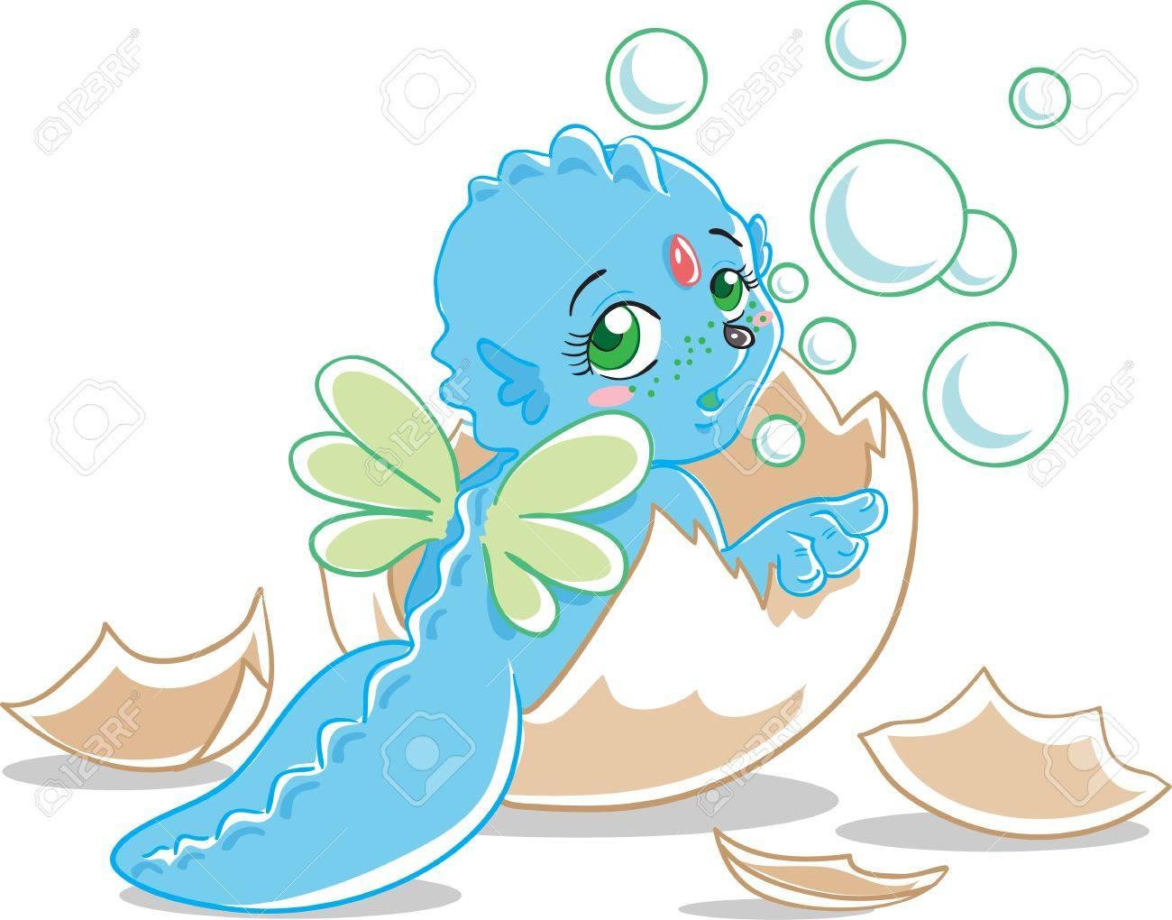 Blue dragon Stock Vector - 16004398