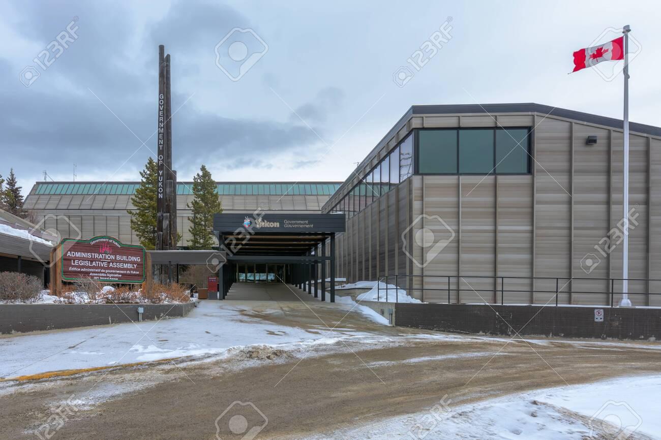 Whitehorse Yukon Canada March 27 2017 Yukon Legislative Stock Photo Picture And Royalty Free Image Image 144637894