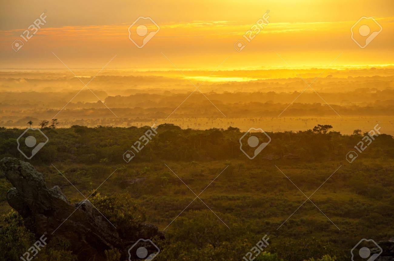 Early morning sunrise in La Macarena, Colombia - 15581642