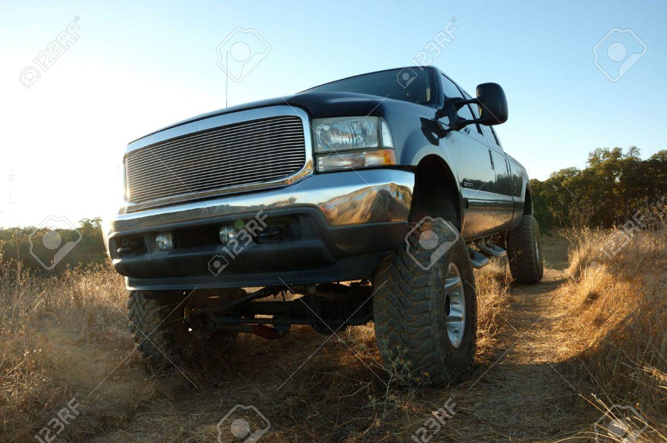 Image of lifted 4x4 Stock Photo - 7853983