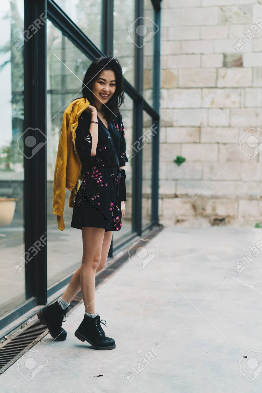 Young Fashion Designer Form Asia Standing Beside The Office Building Stock Photo Picture And Royalty Free Image Image 102388656