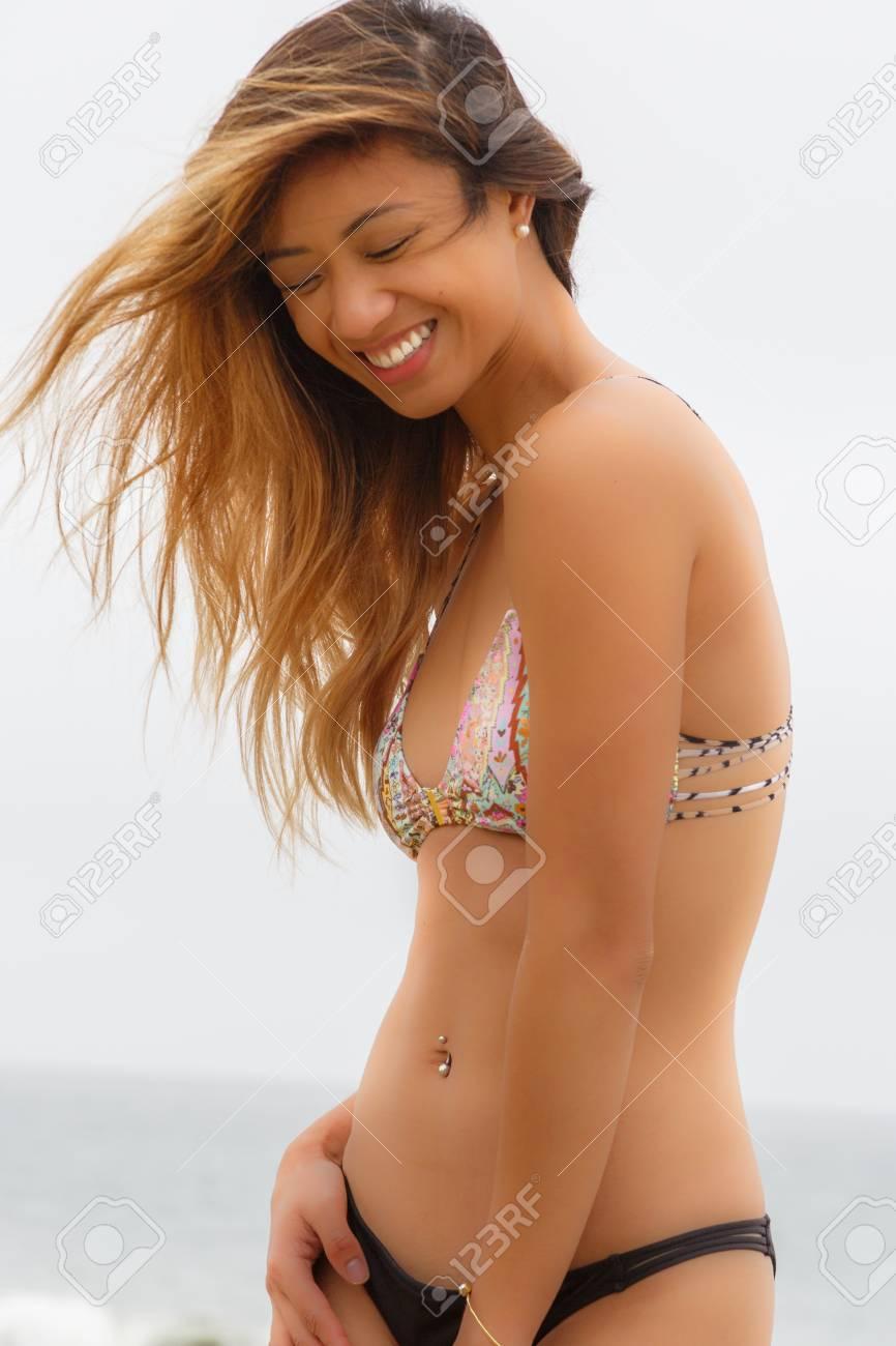 Bikini Day The BeachWindy Angeliza Model At Wearing mnN8w0