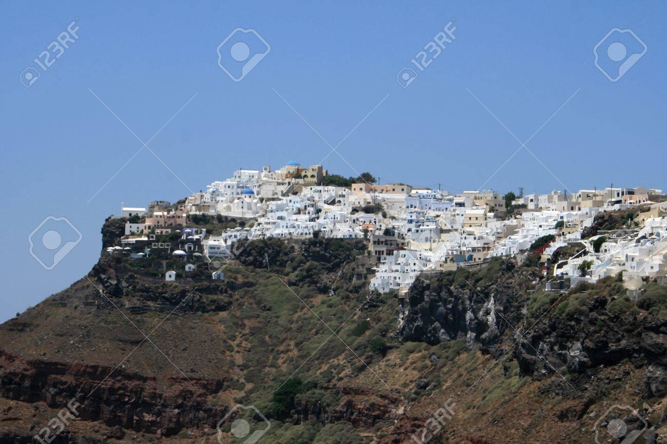 Landscape of Santorin - Cyclades Stock Photo - 10061405