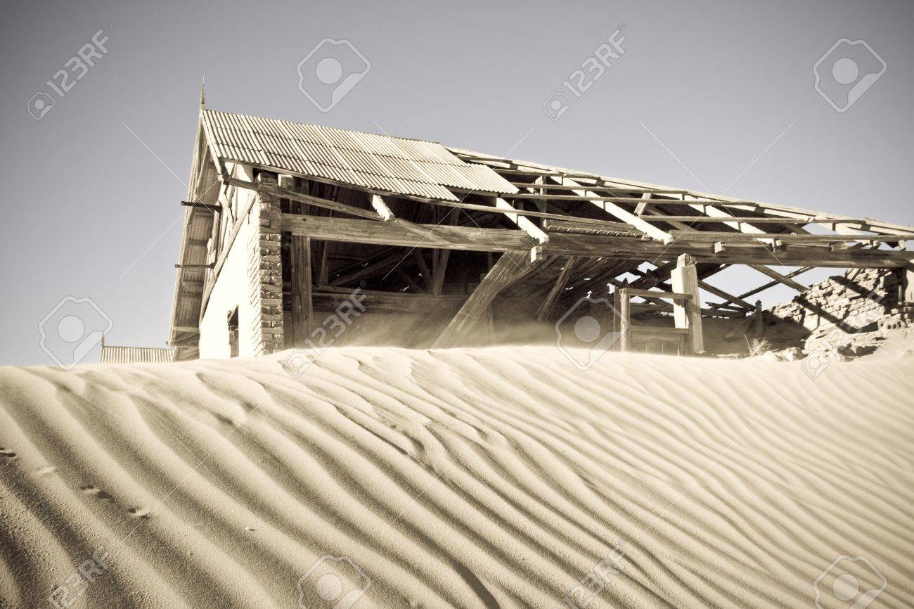 Ghost town of Komanskop in Luderitz, Namibia Stock Photo - 7040187