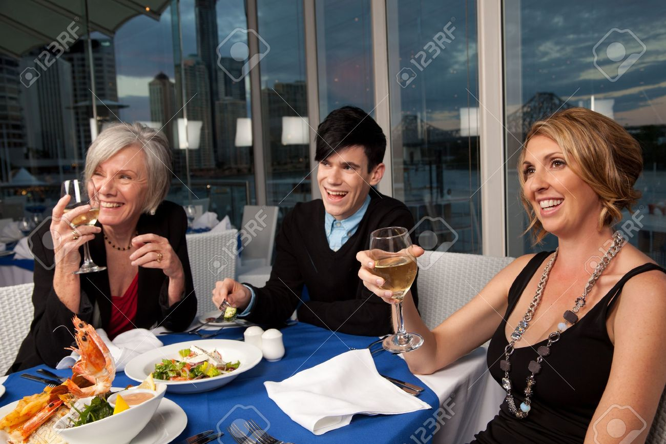 Group of friends having a good time Stock Photo - 10385551