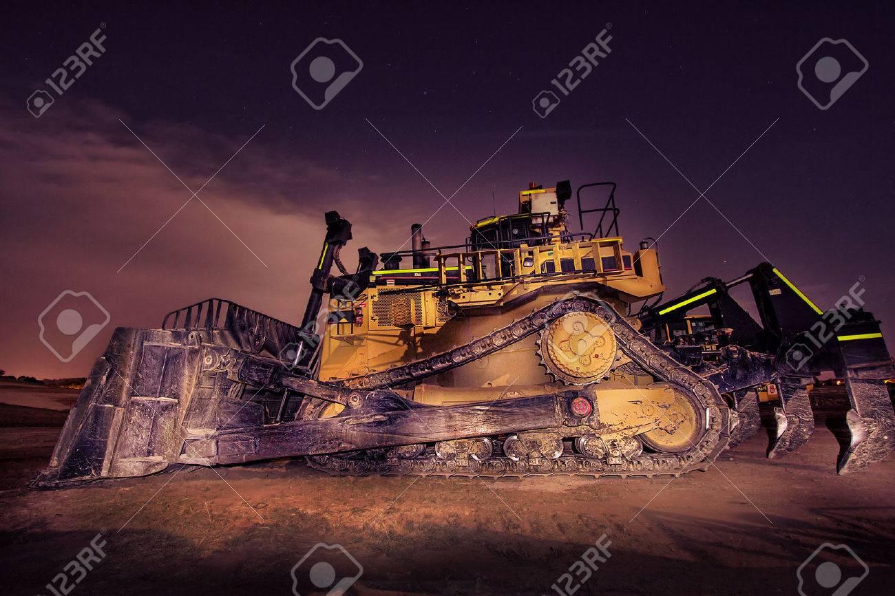 Big bulldozer at night Stock Photo - 27553843